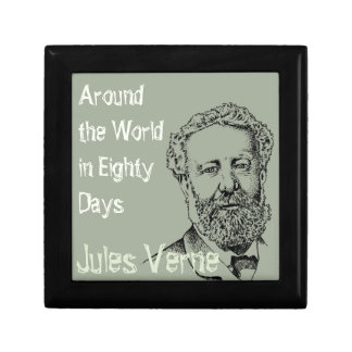 Jules Verne the steampunk writer Small Square Gift Box