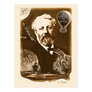 Jules Verne tributes Postcard