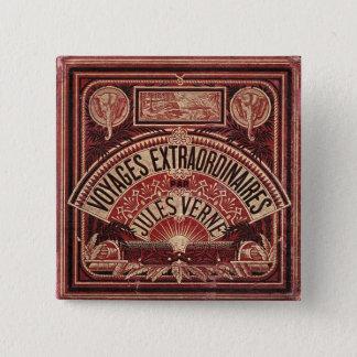 "Jules Verne's ""VOYAGES EXTRAORDINAIRES"" 15 Cm Square Badge"
