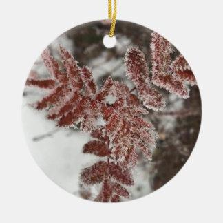 Julgransprydnad frosty blades ceramic ornament