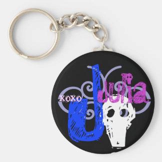 Julia Basic Round Button Key Ring