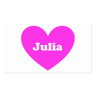 Julia Business Card Templates