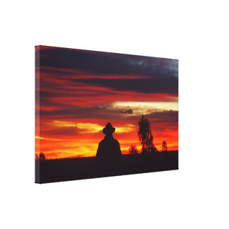 Julia Creek sunset canvas print
