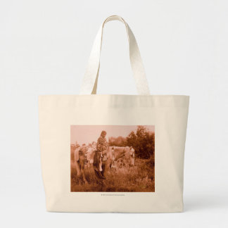Julia - Crow Woman Jumbo Tote Bag