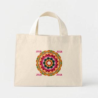 JULIA ~ Personalized Gem Stone Fractal ~ Mini Tote Bag
