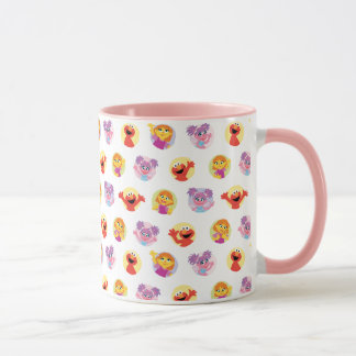 Julia & Sesame Street Friends Pattern Mug