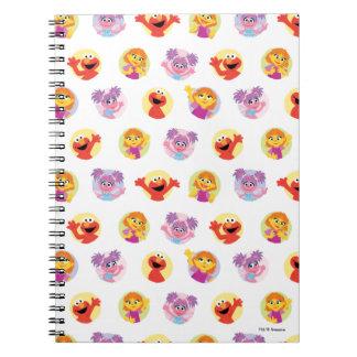 Julia & Sesame Street Friends Pattern Notebook