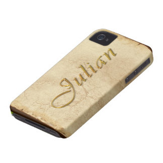 JULIAN Name Branded iPhone 4 Case