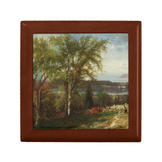 Julie Beers-Hudson River at Croton Point Small Square Gift Box