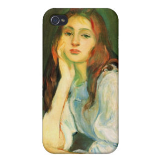 Julie dreaming by Berthe Morisot iPhone 4/4S Covers