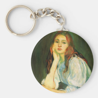 Julie dreaming by Berthe Morisot Keychains