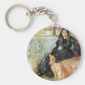Julie Manet and her greyhound Laertes by Morisot Key Chain