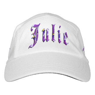 Julie, Name, Logo, White Knit Performance Hat