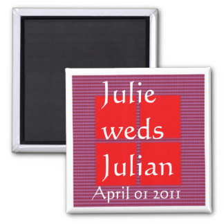 JULIE weds JULIAN - TEXT your SQUARES Template Magnets
