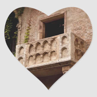 Juliet's Balcony Heart Sticker