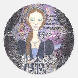 Juliet's window 001.jpg round sticker