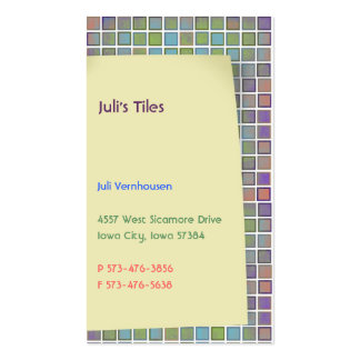 Juli's Tiles Business Cards