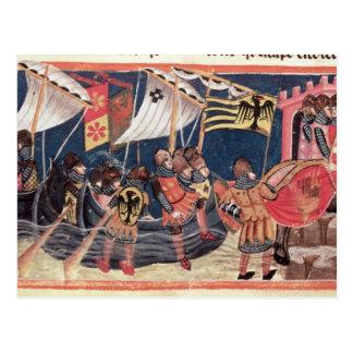 Julius Caesar  landing in England Postcard