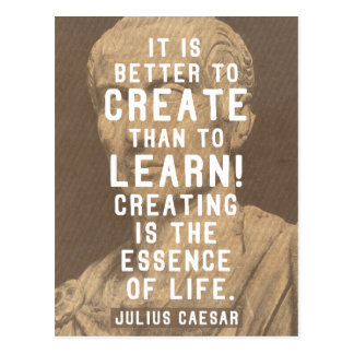 Julius Caesar / Roman Quote On Creativity Postcard