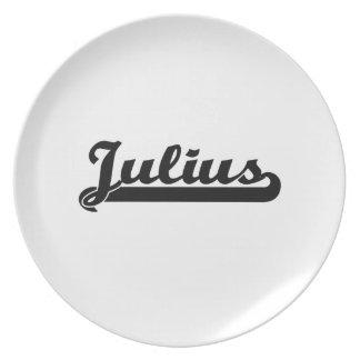 Julius Classic Retro Name Design Plates