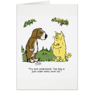 Julius Katz the cat greeting card