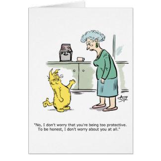 Julius Katz the cat worry greeting card