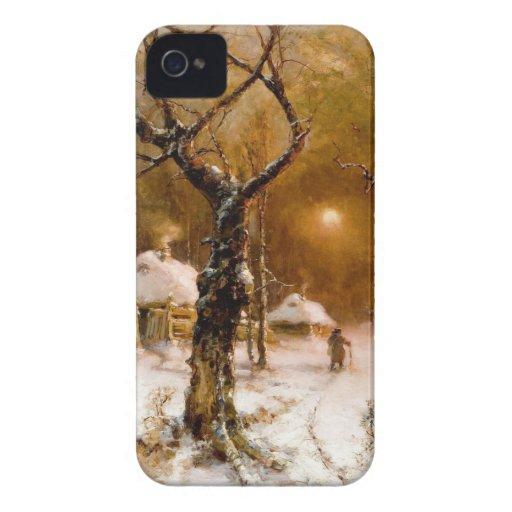 Julius Klever: Winter Night Walk Blackberry Bold Covers