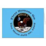 July 20, 1969 Apollo 11 Moon Walk T shirts Cards