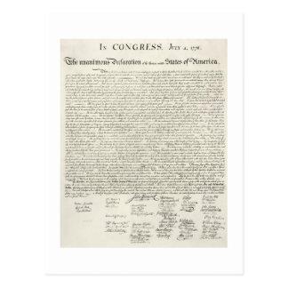 July 4,1776 DECLARATION OF INDEpendence Postcard
