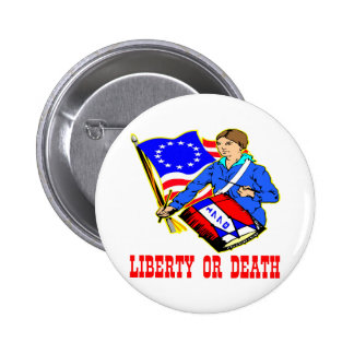 July 4, 1776 Liberty Or Death Independence Day 6 Cm Round Badge