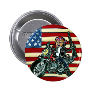 July 4th- Born to be Wild Airedale Pinback Buttons