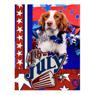 July 4th - Brittany Spaniel - Charlie Postcard
