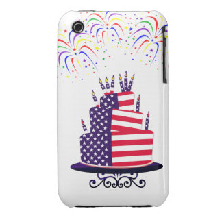 July 4th Cake  iPhone 3G/3GS Barely There Case Case-Mate iPhone 3 Case
