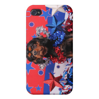 July 4th - Cavalier King Charles Spaniel - Charlie iPhone 4 Case