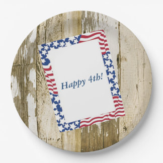 July 4th Cookout July 4th Party Paper Plates 9 Inch Paper Plate