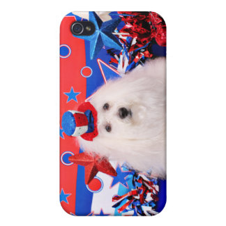 July 4th - Coton de Tulear - Claire Covers For iPhone 4