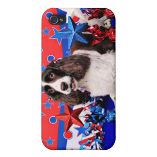 July 4th - English Springer Spaniel - Chloe Covers For iPhone 4