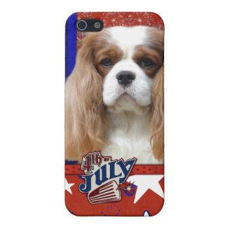 July 4th Firecracker - Cavalier - Blenheim iPhone 5/5S Covers