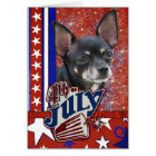 July 4th Firecracker - Chihuahua Card