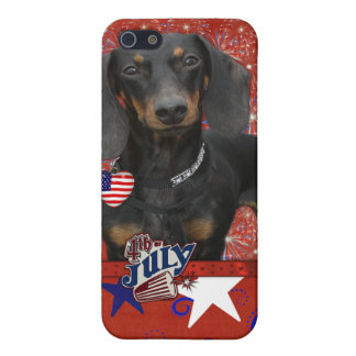 July 4th Firecracker - Dachshund - Winston iPhone 5/5S Case