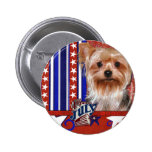July 4th Firecracker - Yorkshire Terrier 6 Cm Round Badge