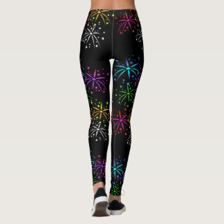 July 4th fireworks leggings