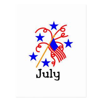 July 4th Flag Postcard