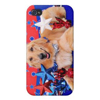 July 4th - Golden Retriever - JJ iPhone 4 Cases
