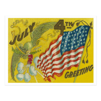 July 4th Greeting Postcard