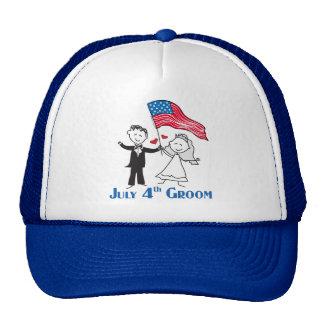 July 4th Groom Gifts Trucker Hat