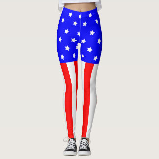July 4th Leggings United States Flag