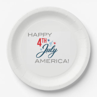 July 4th Paper Plates 9 Inch Paper Plate