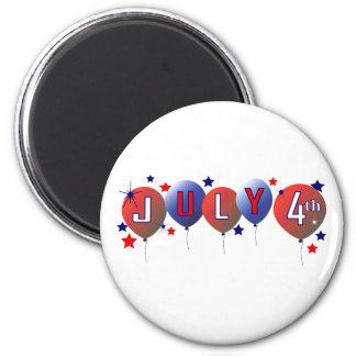 July 4th Party Balloons Magnet