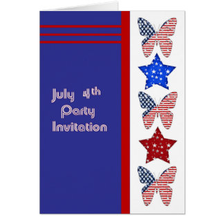 July 4th. Party Invitation Card